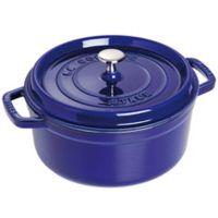 Staub 4 qt. Round French Cocotte in Dark Blue