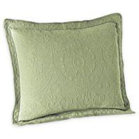 Historic Charleston Collection Matelassé European Pillow Sham in Sage