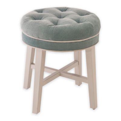 vanity chair. Hillsdale Krauss Wood Vanity Stool in Spa Buy Stools from Bed Bath  Beyond