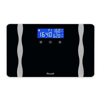 Widebody Digital Body Composition Bath Scale in Black. Buy Digital Scales from Bed Bath   Beyond