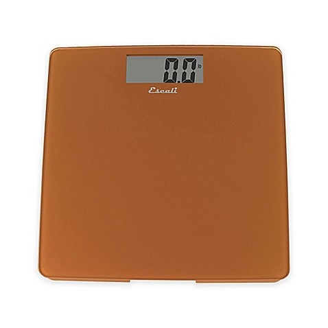 Glass digital bath scale in cinnamon bed bath beyond for Bathroom scales at bed bath and beyond