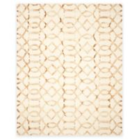 Safavieh Dip Dye Entwine 8-Foot x 10-Foot Hand-Tufted Wool Area Rug in Ivory/Camel