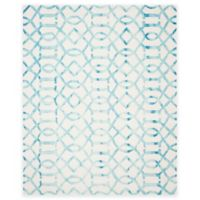 Safavieh Dip Dye Entwine 9-Foot x 12-Foot Hand-Tufted Wool Area Rug in Ivory/Turquoise