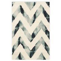 Safavieh Dip Dye Chevron 2-Foot x 3-Foot Hand-Tufted Wool Area Rug in Ivory/Grey