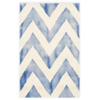 Safavieh Dip Dye Chevron 2-Foot x 3-Foot Hand-Tufted Wool Area Rug in Ivory/Blue