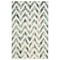 Safavieh Dip Dye Chevron 6-Foot x 9-Foot Hand-Tufted Wool Area Rug in Ivory/Grey