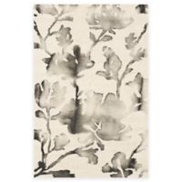 Safavieh Dip Dye Roses 2-Foot x 3-Foot Hand-Tufted Wool Area Rug in Ivory/Charcoal