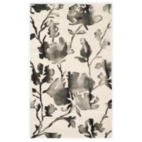 Safavieh Dip Dye Roses 3-Foot x 5-Foot Hand-Tufted Wool Area Rug in Ivory/Charcoal