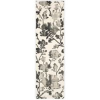 Safavieh Dip Dye Roses 2-Foot 3-Inch x 8-Foot Hand-Tufted Wool Area Rug in Ivory/Charcoal