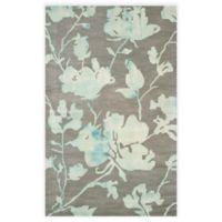 Safavieh Dip Dye Roses 5-Foot x 8-Foot Hand-Tufted Wool Area Rug in Grey/Turquoise