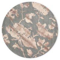 Safavieh Dip Dye Roses 7-Foot Round Hand-Tufted Wool Area Rug in Grey/Beige