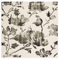 Safavieh Dip Dye Roses 7-Foot x 7-Foot Hand-Tufted Wool Area Rug in Ivory/Charcoal