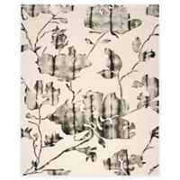 Safavieh Dip Dye Roses 8-Foot x 10-Foot Hand-Tufted Wool Area Rug in Ivory/Charcoal
