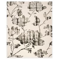 Safavieh Dip Dye Roses 9-Foot x 12-Foot Hand-Tufted Wool Area Rug in Ivory/Charcoal