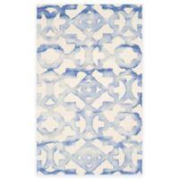 Safavieh Dip Dye Roses 3-Foot x 5-Foot Hand-Tufted Wool Area Rug in Ivory/Blue
