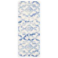 Safavieh Dip Dye Roses 2-Foot 3-Inch x 8-Foot Hand-Tufted Wool Area Rug in Ivory/Blue