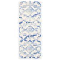 Safavieh Dip Dye Roses 2-Foot 3-Inch x 12-Foot Hand-Tufted Wool Area Rug in Ivory/Blue