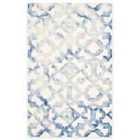 Safavieh Dip Dye Roses 6-Foot x 9-Foot Hand-Tufted Wool Area Rug in Ivory/Blue