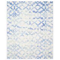 Safavieh Dip Dye Roses 8-Foot x 10-Foot Hand-Tufted Wool Area Rug in Ivory/Blue