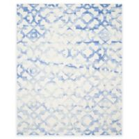 Safavieh Dip Dye Roses 9-Foot x 12-Foot Hand-Tufted Wool Area Rug in Ivory/Blue