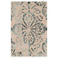Safavieh Dip Dye Floral Medallion 3-Foot x 5-Foot Hand-Tufted Wool Area Rug in Camel/Grey