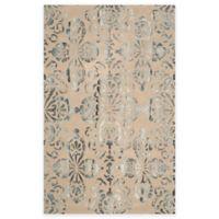 Safavieh Dip Dye Floral Medallion 4-Foot x 6-Foot Hand-Tufted Wool Area Rug in Camel/Grey