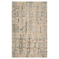 Safavieh Dip Dye Floral Medallion 7-Foot x 7-Foot Hand-Tufted Wool Area Rug in Camel/Grey