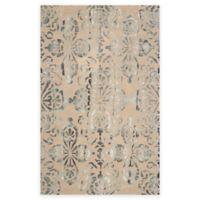 Safavieh Dip Dye Floral Medallion 8-Foot x 10-Foot Hand-Tufted Wool Area Rug in Camel/Grey