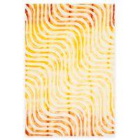 Safavieh Dip Dye Waves 4-Foot x 6-Foot Hand-Tufted Wool Area Rug in Ivory/Terracotta
