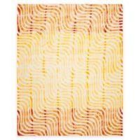Safavieh Dip Dye Waves 8-Foot x 10-Foot Hand-Tufted Wool Area Rug in Ivory/Terracotta