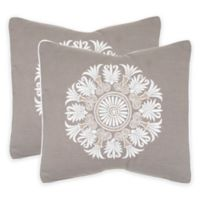Safavieh Royal Palm Throw Pillow in Sterling (Set of 2)