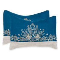 Safavieh Elena Square Throw Pillows in Royal Blue (Set of 2)