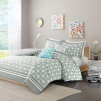 Intelligent Design Lita Full/Queen Duvet Cover Set in Grey