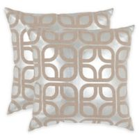 Safavieh Cole 22-Inch x 22-Inch Throw Pillows in Silver (Set of 2)