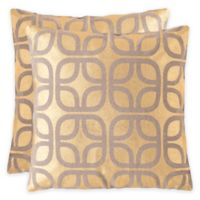 Safavieh Cole 22-Inch x 22-Inch Throw Pillows in Gold (Set of 2)