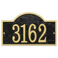Whitehall Products Fast & Easy Arch House Numbers Plaque in Black/Gold