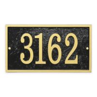 Whitehall Products Fast & Easy Rectangle House Numbers Plaque in Black/Gold