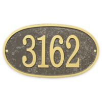 Whitehall Products Fast & Easy Oval House Numbers Plaque in Bronze/Gold