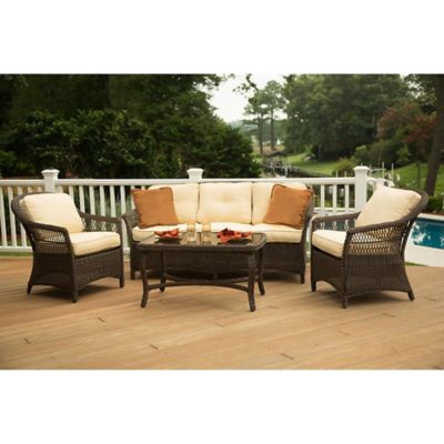 agio charlotte 4piece cushioned outdoor deep seating set in