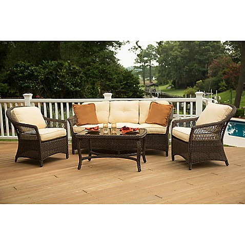 Bed Bath And Beyond  Piece Deep Seating Set Brown
