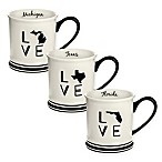 Formations State Love Mug in Black and White