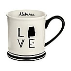 Formations Alabama State Love Mug in Black and White
