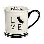Formations California State Love Mug in Black and White