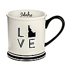 Formations Idaho State Love Mug in Black and White