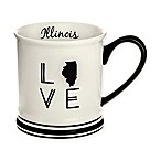 Formations Illinois State Love Mug in Black and White