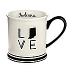 Formations Indiana State Love Mug in Black and White