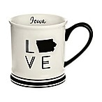 Formations Iowa State Love Mug in Black and White