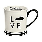 Formations Kentucky State Love Mug in Black and White