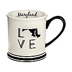 Formations Maryland State Love Mug in Black and White