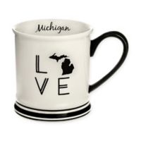 Formations Michigan State Love Mug in Black and White